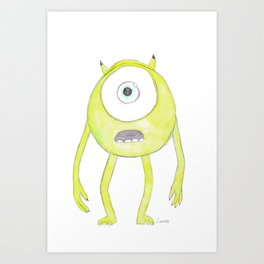 mike out of monsters inc Art Print