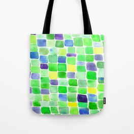 Colorfield Green and Blue Tote Bag