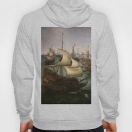 "Hendrick Cornelisz Vroom ""The meeting of Frederic V and Elizabeth Stuart on the sea"" Hoody"