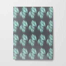 Palm Leaves Pattern #8 #Mint #CoolGray #decor #art #society6 Metal Print