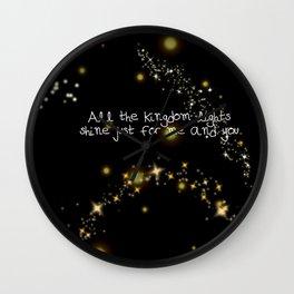 kingdom lights Wall Clock