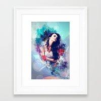 daria Framed Art Prints featuring Daria by MariAngel