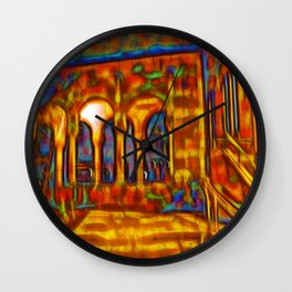 Dream courtyard Wall Clock