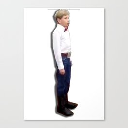 Yodeling walmart kid Canvas Print