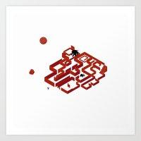 You Do Not Enter the Maze, the Maze Enters You Art Print