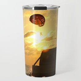 Sunset on Patong beach. Travel Mug
