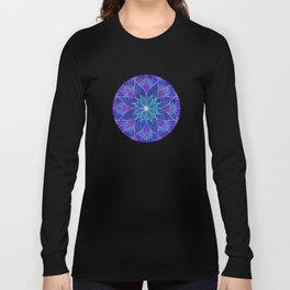 Lotus 2 - blue and purple Long Sleeve T-shirt