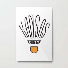 Kansas City Shuttlecock Type Metal Print