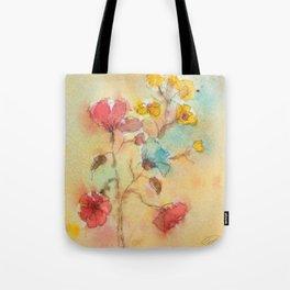 Vintage flowers (watercolor) Tote Bag