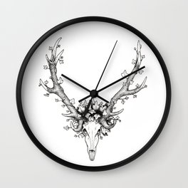 Ivy and the deer Wall Clock