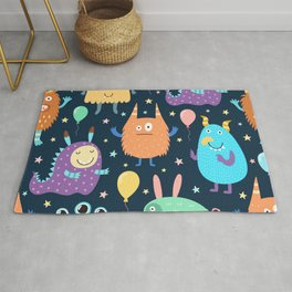 adorable monsters Rug