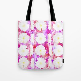Flowerheads in pinks and fuschia Tote Bag