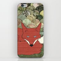 mr fox iPhone & iPod Skins featuring Mr. Fox by Elephant Trunk Studio
