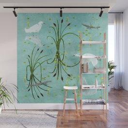little egrets Wall Mural