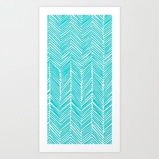 Freeform Arrows in turquoise Art Print