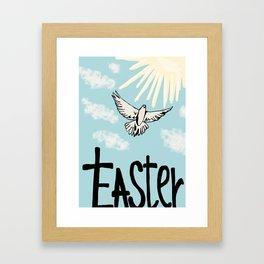 Easter dove Framed Art Print