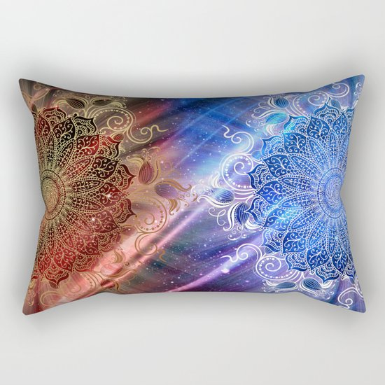 Mandala - Mighty fire & ice Rectangular Pillow