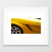 lamborghini Framed Art Prints featuring Lamborghini by Amy K. Nichols