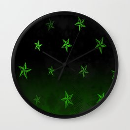 nautical star green space light Wall Clock