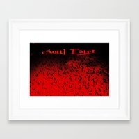soul eater Framed Art Prints featuring Soul Eater by Deb Adkins