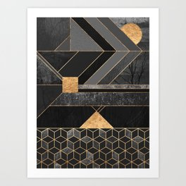 Nordic Black Art Print