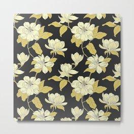 pattern rose Metal Print