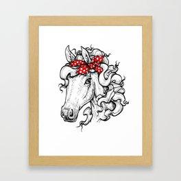 Horse in Red Bandana Framed Art Print