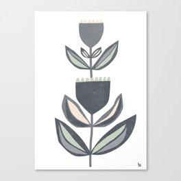 blooming I dark Canvas Print