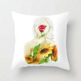 But I'm a sunflower Throw Pillow