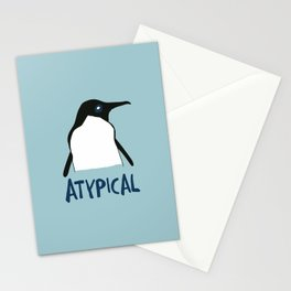 Atypical penguin Stationery Cards