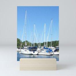 Boat Marina Mini Art Print