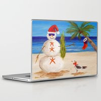 sandman Laptop & iPad Skins featuring Christmas Sandman by Vivid Perceptions