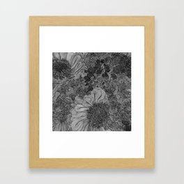 Floral Lines 4 Framed Art Print