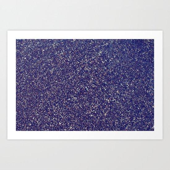 Black Sand III (Rose) Art Print