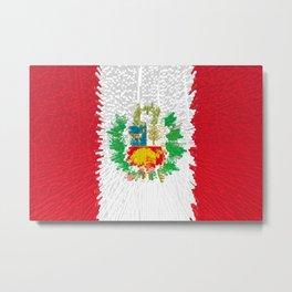 Extruded flag of Peru Metal Print