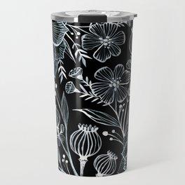 Blck and White Botanika Travel Mug