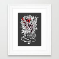 modest mouse Framed Art Prints featuring Modest Mouse by Supuru
