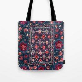 Lakai Suzani Shakhrisyabz Uzbek Embroidery Print Tote Bag