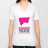theatre V-neck T-shirts featuring Showroom Theatre by Chris Andrawes