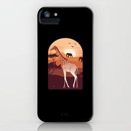 Giraffe Africa Holiday Gift iPhone Case