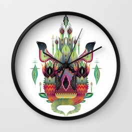 Botanical castle Wall Clock