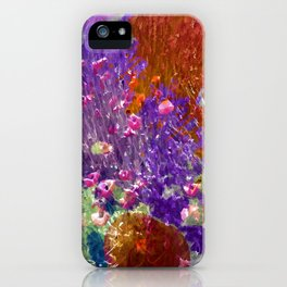 Painted Fields of Flowers iPhone Case