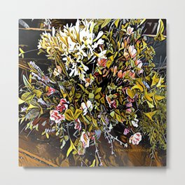 Yellow and Pink Bouquet of Flowes Metal Print