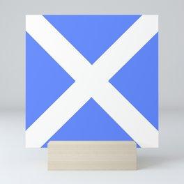 flag of scotland 4– scotland,scot,scottish,Glasgow,Edinburgh,Aberdeen,dundee,uk,cletic,celts,Gaelic Mini Art Print