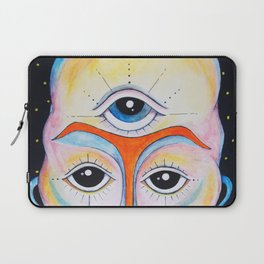 Third Eye Alien Geometric Painting Ascension Clairvoyant Channeled ARtwork Laptop Sleeve
