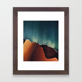 dislocated day Framed Art Print