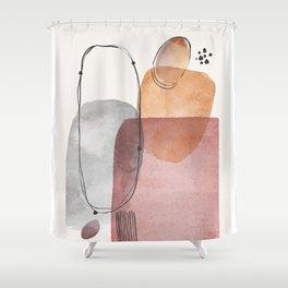 Modern Abstract Art IX Shower Curtain