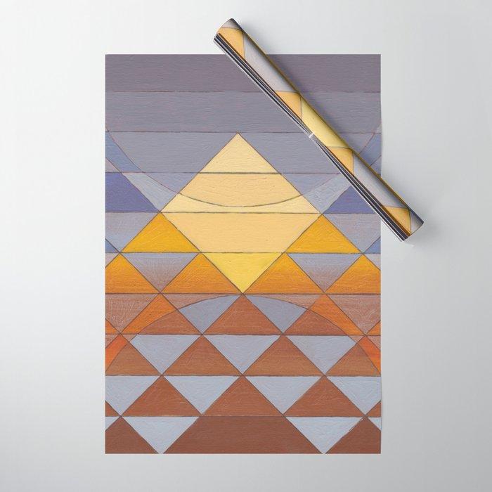 Pyramid Sun Mauve Purple Wrapping Paper