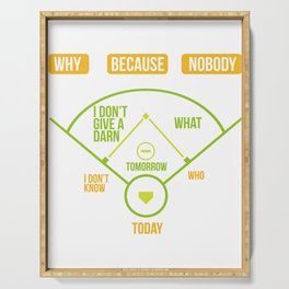 Baseball Diagram Why Because Nobody Gift Serving Tray
