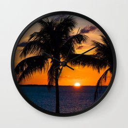 Key Largo Sunset Wall Clock